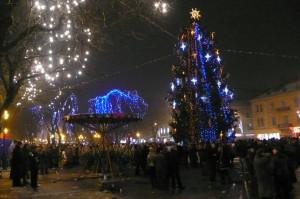 Новый Год: ёлка, гирлянды, подогретая публика!