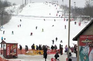 Лыжный спуск Протасов Яр, г. Киев